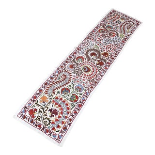Special Work Long Suzani Table Runner Pure Silk Suzani Fabric