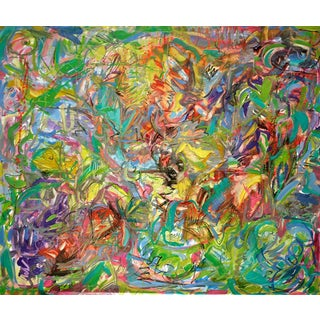 "Abstract Oil Painting by Trixie Pitts ""Tropics"""