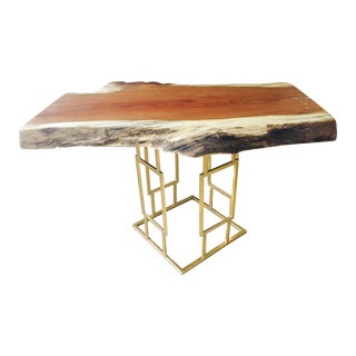 Modern Cherry Burl Cocktail Table