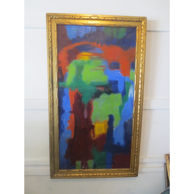 Large Colorful Abstract by Blanche Schmiedler - Image 2 of 3