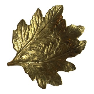 Virginia Metalcrafts Chrysanthemum Leaf Dish