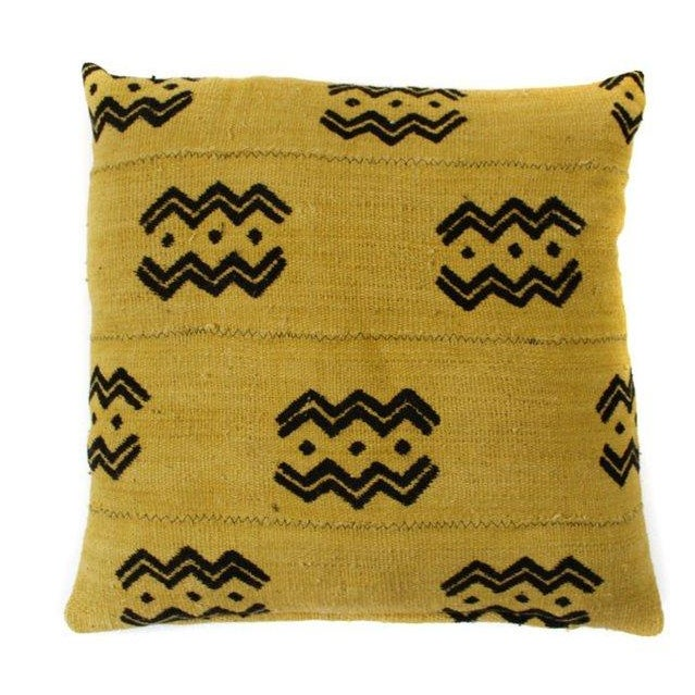 Image of Golden Mud Cloth Pillow