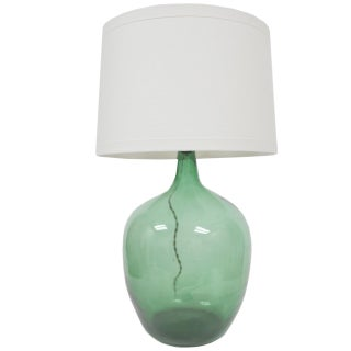 Vintage Green Demijohn Lamp
