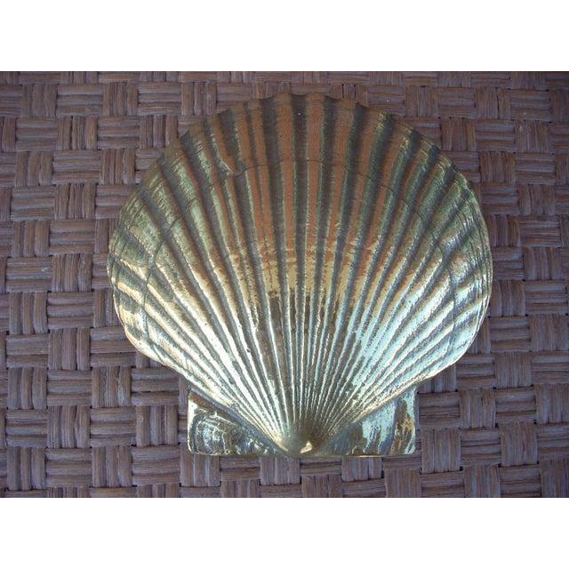 Image of Brass Scallop Shell Door Knocker