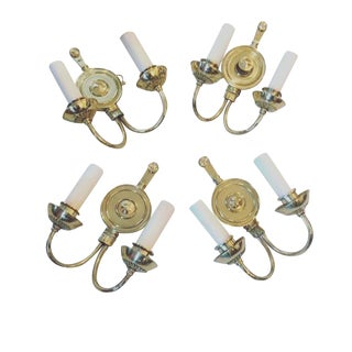 Traditional Brass Wall Sconces - Set of 4