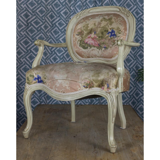 Image of Vintage Louis XV Style Armchair