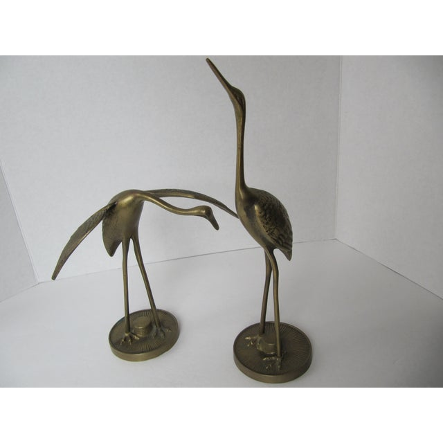 Solid Brass Egrets - Image 4 of 6