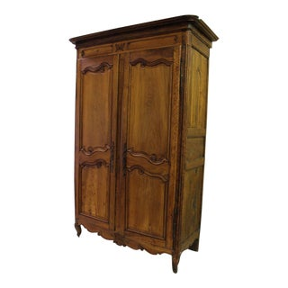 18thC Large French Country Wooden Armoire