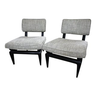 James Mont Bench Made Slipper Chairs- A Pair