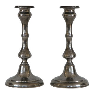 Antique Sheffield Candle Holders - A Pair