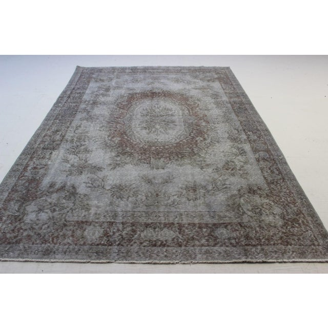 "Gray Turkish Overdyed Rug - 5'7"" X 9'5"" - Image 4 of 9"