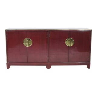 Red Lacquer Asian Style Sideboard