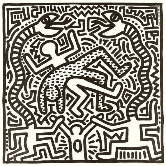 Image of Keith Haring 1982 Vinyl Cover Art