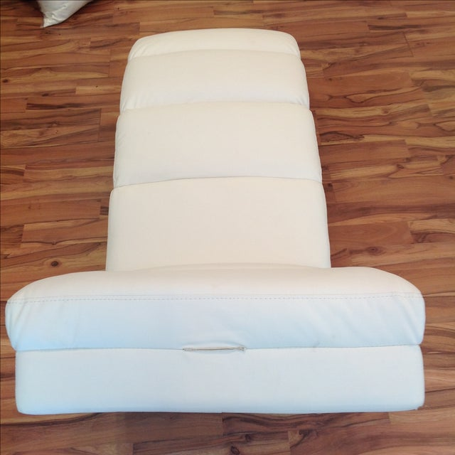 White Chaise Lounge - Image 6 of 7