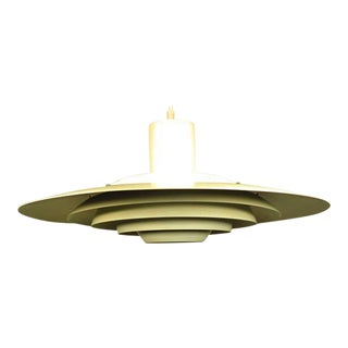 Vintage Mid-Century Modern Space Ship Hanging Light Fixture