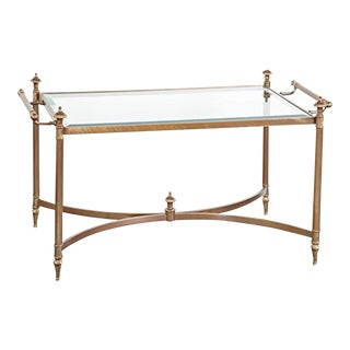 La Barge Hand Cast Solid Brass Cocktail Table