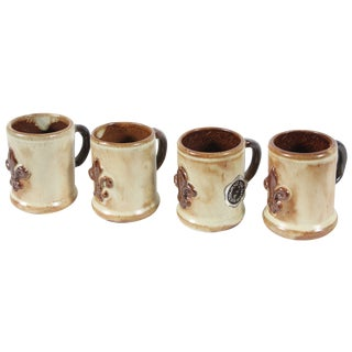 Geurin Belgium Pottery Expresso Mugs- Set of 4