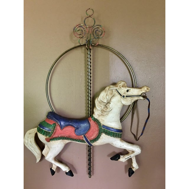 Curtis Jere Carousel Horse Wall Hanging - Image 3 of 7