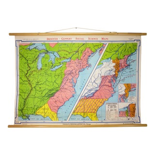 "Vintage ""International Rivalries"" Eastern USA Pulldown Map"