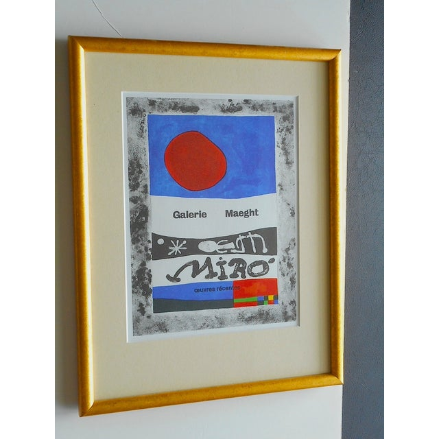 Joan Miro Lithograph Framed - Image 2 of 4