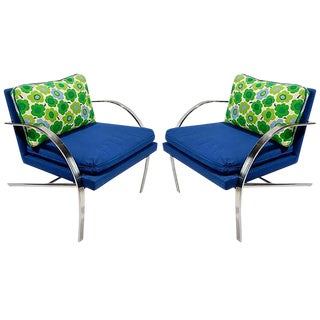 "Pair of ""Arco"" Club Chairs In The Style Of Paul Tuttle"