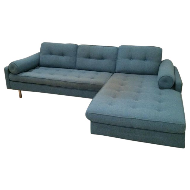 Image of Vioski Chicago Tufted Blue Sectional