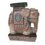 Image of Vintage Painted Terra Cotta Elephant