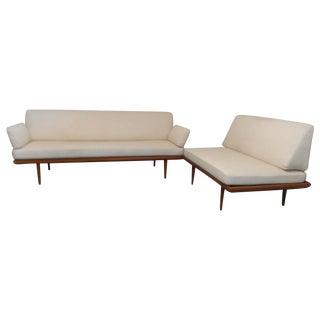 Danish Mid-Century Modern Hvidt Sofa & Love Seat