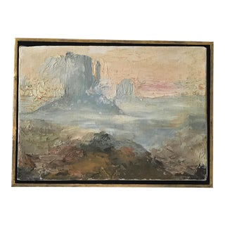 Vintage Monument Valley Oil on Canvas Painting