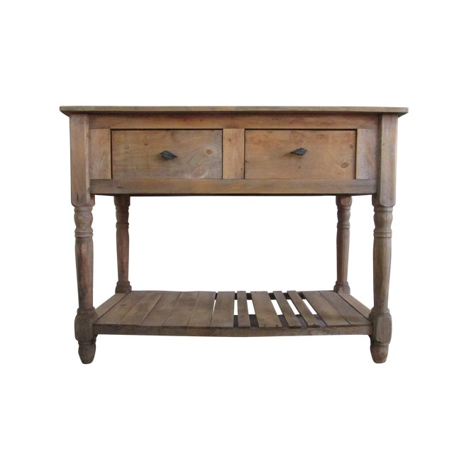 Primitive Pine Console Table - Image 1 of 6