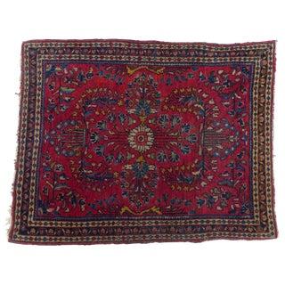 Antique Persian Sarouk Rug - 2′ × 2′6″