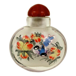 Painted Glass Apothecary Bottle