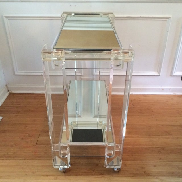 Lucite Bar Cart Attributed to Hollis Jones - Image 7 of 7