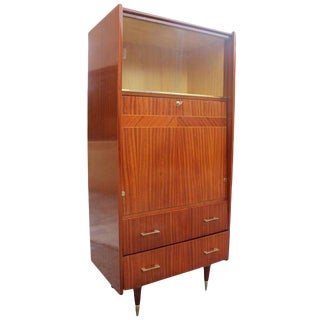 French Art Deco Mahogany Bar, Circa 1940s