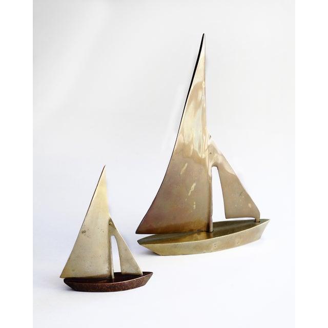 Image of Brass Sailboats - Pair