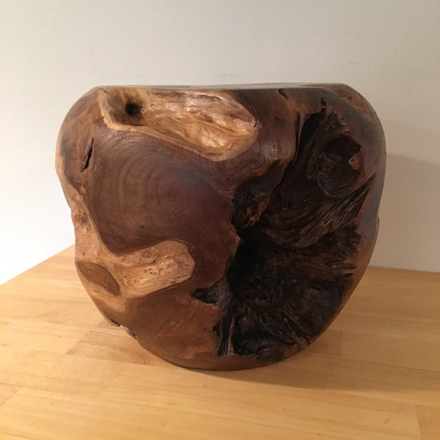 Image of Teak Root Wood Accent Side Table Base