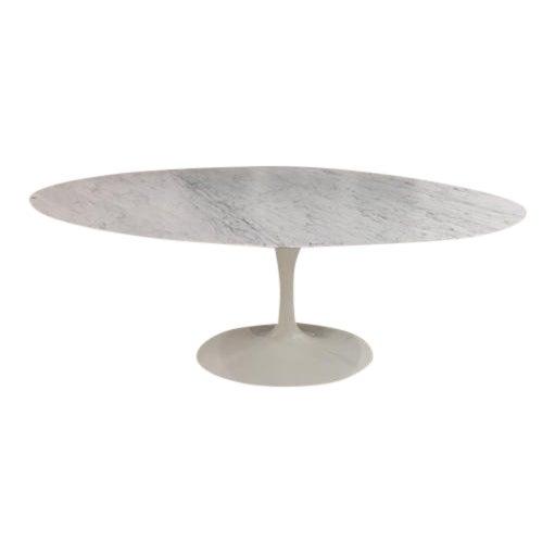 Knoll & Eero Saarinen White Dining Table - Image 1 of 11