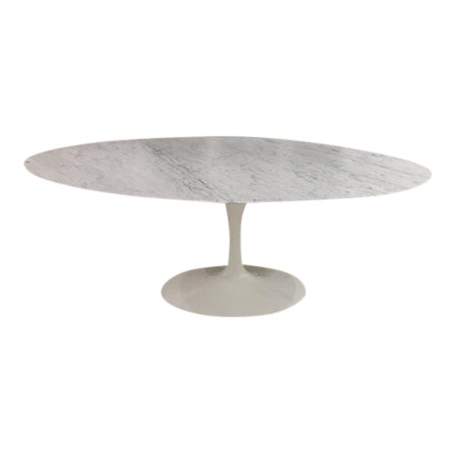 Image of Knoll & Eero Saarinen White Dining Table