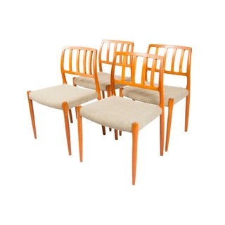 N.O. Møller Danish Modern Dining Chairs - Set of 4