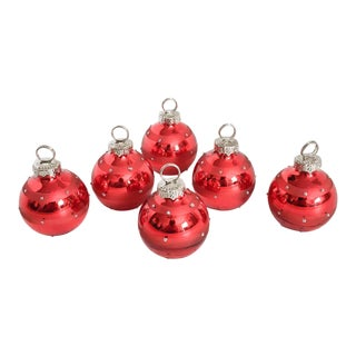 Red & Silver Ornament Place Card Holders - Set of 6