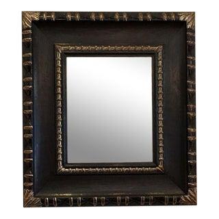 Carved Ebony & White Gold Designer Mirror