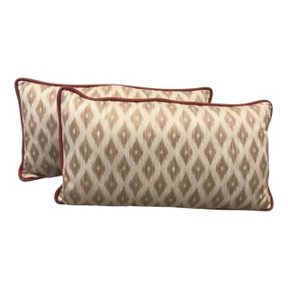 King Size Decorative Patterned Pillows - A Pair