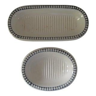 Antique Villeroy & Boch Soap Dishes- 2 Pieces