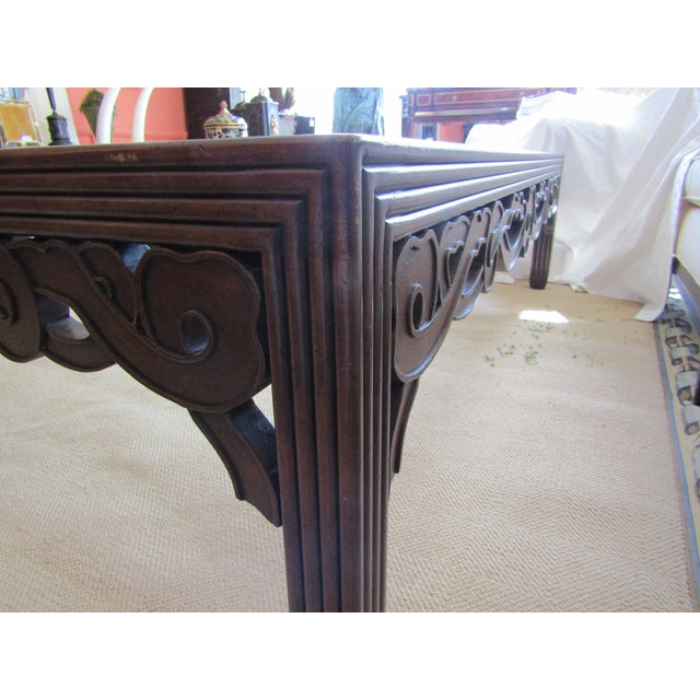 Transitional Glass Top Wood Cocktail Table - Image 3 of 4