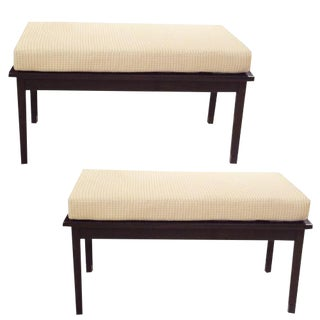 A Pair of Two Seat Mid Century Benches in the style of Ico Parisi