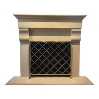 Diamond Pattern Modern Fireplace Screen