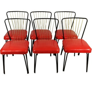 Lloyd Heywood Wakefield Dinette Chairs - S/6