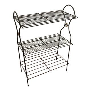 Mid-Century Atomic Perforated Metal Stand
