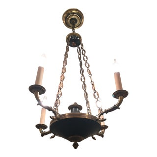 Classical Style Four Arm Brass Chandelier