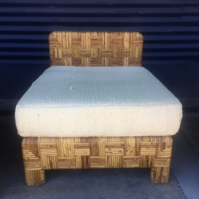 Vintage Woven Caning Sectional Sofa - Image 7 of 11